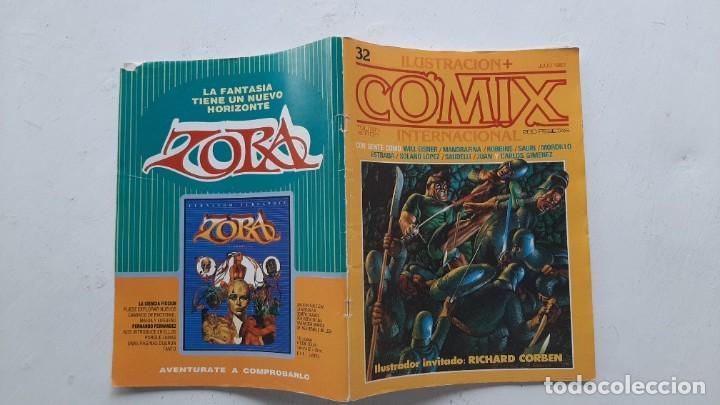 LOTE DE DOS NÚMEROS DE LA REVISTA COMIX (Nº 32 Y 59) - TOUTAIN - PRIMERA ÉPOCA (Tebeos y Comics - Toutain - Comix Internacional)