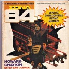 Cómics: ZONA 84 - NÚMERO 96 ÚLTIMO NÚMERO - TOUTAIN EDITOR. Lote 257869545