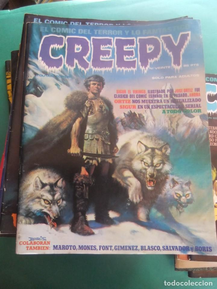 Cómics: CREEPY LOTE DE 29 NUMEROS TOUTAIN EDITOR - Foto 7 - 260811505