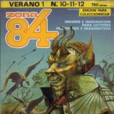 Cómics: ZONA 84 VERANO 1 RETAPADO CON LOS NUMEROS 10 A 12 EDICION PARA COLECCIONISTAS - TOUTAIN - OFM15. Lote 261231475