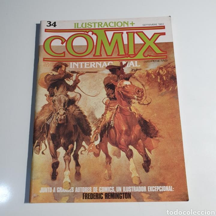CÓMIC, ILUSTRACIÓN + COMIX, INTERNACIONAL, NUM. 34. (Tebeos y Comics - Toutain - Comix Internacional)