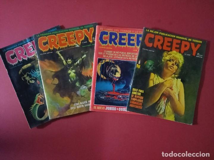 LOTE DE 4 CREEPY - COMICS DE TERROR (Tebeos y Comics - Toutain - Creepy)
