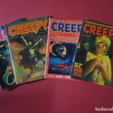 Cómics: LOTE DE 4 CREEPY - COMICS DE TERROR. Lote 263550000