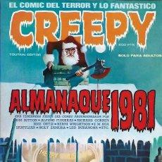 Cómics: CREEPY ALMANAQUE 1981 - TOUTAIN - RICHARD CORBEN - JOSE ORTIZ - BERNI WRIGHTSON - IMPECABLE. Lote 266942724
