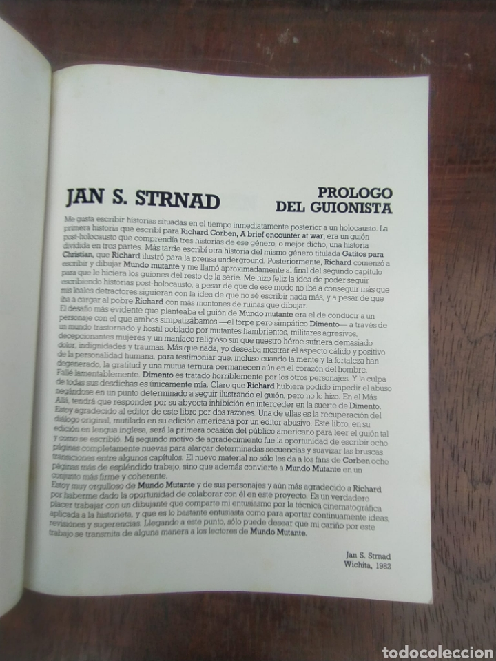 Cómics: MUNDO MUTANTE. JAN STRNAD. RICHARD CORBEN. - Foto 2 - 268905179
