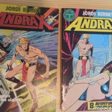 Cómics: ANDRAX COLECCIÓN COMPLETA EN DOS RETAPADOS 1 AL 6 - 7 AL12 - EDICIONES TOUTAIN JORDI BERNET. Lote 268942229