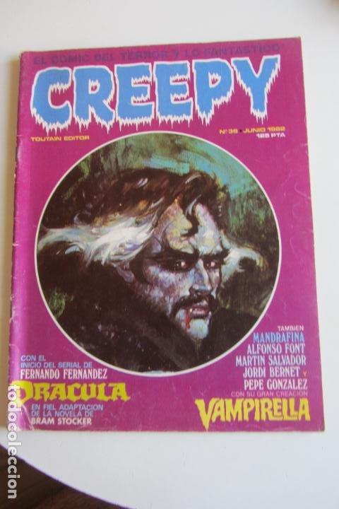 CREEPY Nº 36, EL COMIC DEL TERROR Y LO FANTASTICO TOUTAIN E2 (Tebeos y Comics - Toutain - Creepy)