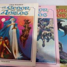 Comics: EL SEÑOR DE LOS ANILLOS (3 TOMOS, COMPLETA) LUIS BERMEJO, J.R TOLKIEN, TOUTAIN, 1980 REF UR MES. Lote 269131943