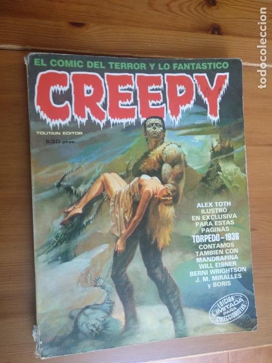 CREEPY EXTRA 6. RETAPADO FALTA UNO DE LOS 4 NÚMEROS QUE CONTIENE. (Tebeos y Comics - Toutain - Creepy)