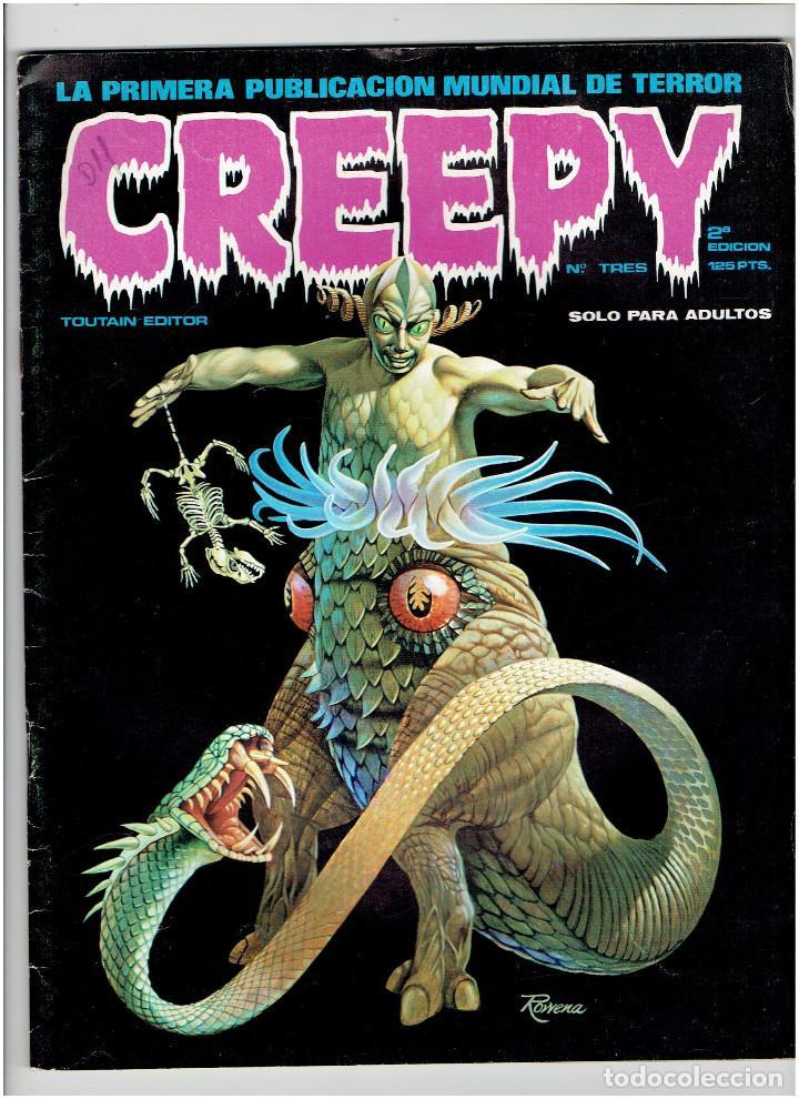 ARCHIVO * CREEPY * Nº 3 * ED. TOUTAIN 2ª EDICIÓN 1979 * (Tebeos y Comics - Toutain - Creepy)