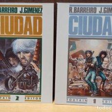 Cómics: CIUDAD - COLECCIÓN COMPLETA TOMOS 1 Y 2 - TOUTAIN. Lote 274595138