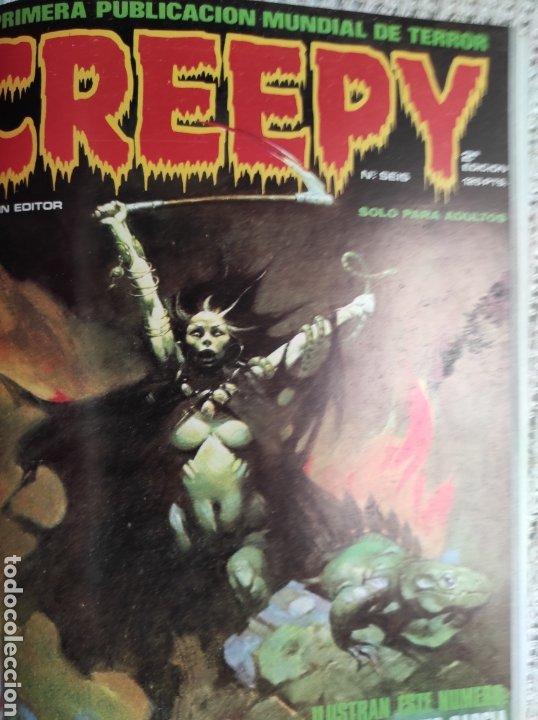 Cómics: TOMO COMICS - CONTIENE ALMANAQUE CREEPY 1982 + Nº 6 + Nº 70 - Foto 3 - 276002808