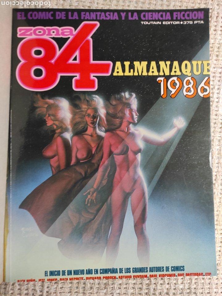 Cómics: TOMO COMICS - CONTIENE ALMANAQUE ZONA 84 PARA 1986 + 1984 Nº 44 + Nº ZONA 84 - Foto 2 - 276003288