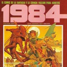 Cómics: COMIC 1984 Nº 61 - FANTASIA Y CIENCIA FICCION - TOUTAIN EDITOR - 1984 - MUY BUEN ESTADO. Lote 276579983
