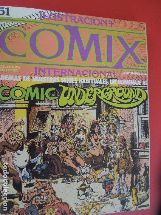 Cómics: COMIX INTERNACIONAL Nº 16 EXTRA -Nº51,52 Y 53 ILUSTRACION TOUTAIN EDITOR AÑOS 80 - Foto 5 - 278178413