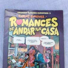 Cómics: ROMANCES DE ANDAR POR CASA DE CARLOS GIMENEZ (COL. AUTORES EUROPEOS Nº 3), PRECINTADO. Lote 281013358