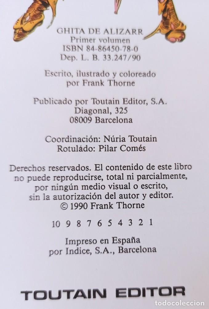 Cómics: GHITA DE ALIZARR - COLECCIÓN COMPLETA 2 NUMEROS - FRANK THORNE - TOUTAIN EDITOR. - Foto 2 - 281795448