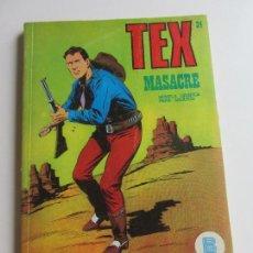 Fumetti: TEX. Nº 24. MASACRE EDICIONES BURU-LAN, 1971 ARX136. Lote 283458513