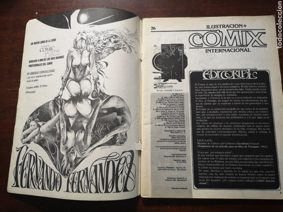 Cómics: Comix ilustración internacional 26. Con Carlos Giménez, will eisner, Martin sauri, Howard chaykin,.. - Foto 2 - 287580428