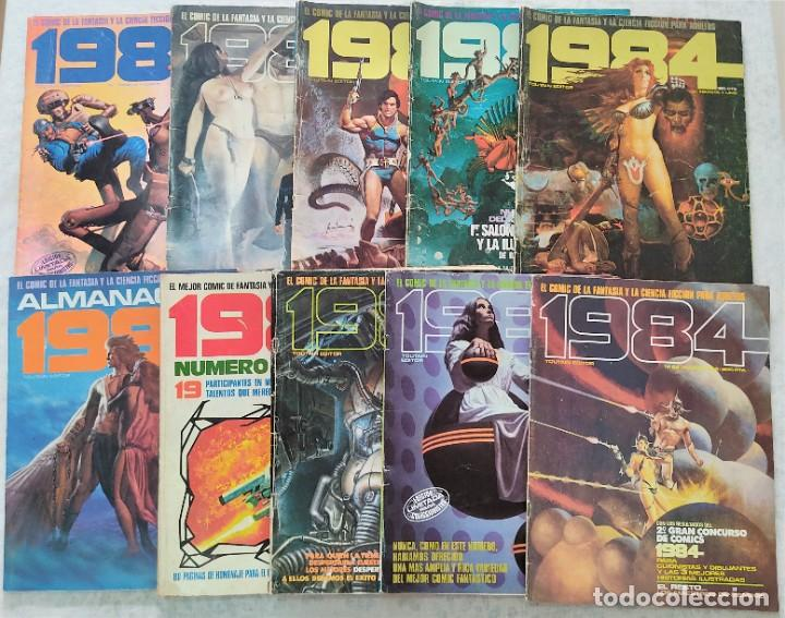 LOTE 1984: 8 NÚMEROS (28, 29, 31, 35, 50, 59, 60, 62), ALMANAQUE 1982, Nº ESPECIAL 1º CONCURSO COMIC (Tebeos y Comics - Toutain - 1984)