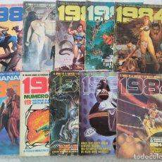 Cómics: LOTE 1984: 8 NÚMEROS (28, 29, 31, 35, 50, 59, 60, 62), ALMANAQUE 1982, Nº ESPECIAL 1º CONCURSO COMIC. Lote 288197588