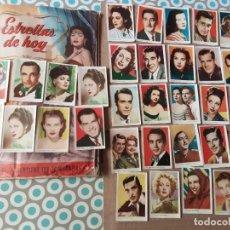 Cómics: LOTE DE 62 CROMOS SUELTOS Y NUNCA PEGADOS ESTRELLAS DE HOY, BRUGUERA AÑOS 50. Lote 292333688