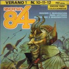 Cómics: ZONA 84 VERANO 1 RETAPADO CON LOS NUMEROS 10 A 12 EDICION PARA COLECCIONISTAS - TOUTAIN - SUB01M. Lote 293161668