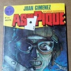 Cómics: COMIC. JUAN GIMÉNEZ, AS DE PIQUE, Nº 1-5, RETAPADO. Lote 295365673