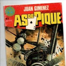 Cómics: AS DE PIQUE Nº 2. JUAN GIMENEZ / RICARDO BARREIRO. TOUTAIN EDITOR, 1988. Lote 295493333