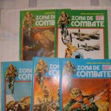 Cómics: LOTE DE 5 COMIC ZONA DE COMBATE 3 AZULES Nº 132.136.157. AÑO 1973 Y 2 VERDES Nº 40 Y 52 EXTRA 1979. Lote 25128457