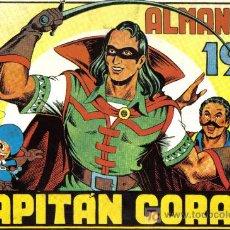 Cómics: CAPITAN CORAJE - ALMANAQUE 1947 - DIBUJOS DE J.G. IRANZO - FACSIMIL - GRAN TAMAÑO - COMO NUEVO. Lote 26629826