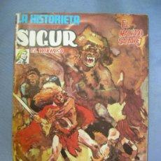 Cómics: COMICS LA HISTORIETA Nº 1 SIGUR EL VIKINGO, EDITA URSUS EDICIONES 1973, CONTIENE POSTER. Lote 26855737