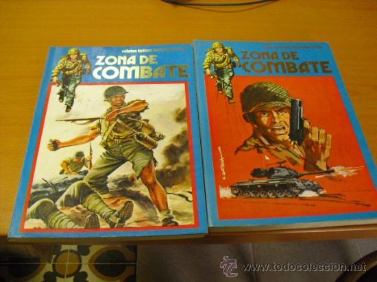 2 TOMOS DE ZONA DE COMBATE 1973 EDITORIAL URSUS RETAPADOS Nº 133-134-135-136-137-138-139-140 (Tebeos y Comics - Ursus)