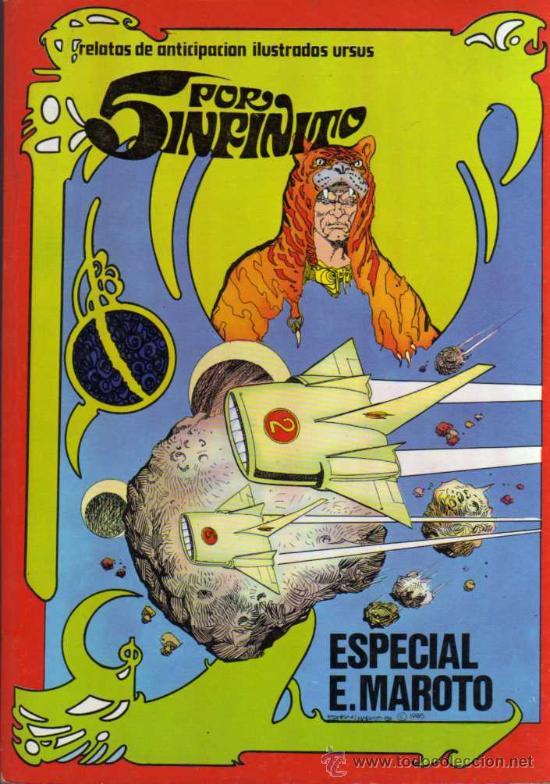 5 POR INFINITO - E. MAROTO - RETAPADO CON LOS NÚMEROS DESDE EL 1 HASTA EL 6 - URSUS (Tebeos y Comics - Ursus)