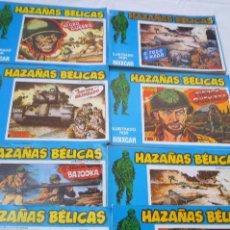 Cómics: COM-156. HAZAÑAS BELICAS ILUSTRADAS POR BOIXCAR. LOTE DE 8 REVISTAS(CON 1 EXTRA). EDICS URSU. 1973. Lote 44013295