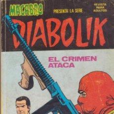 Comics: DIABOLIK Nº 2 -- EL CRIMEN ATACA. Lote 49862863