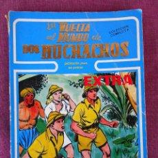 Cómics: COLECCION COMPLETA 'LA VUELTA AL MUNDO DE DOS MUCHACHOS' RETAPADO EN UN VOLUMEN + 'JIM HURACAN'. Lote 100498051