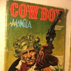 Cómics: COWBOY Nº 11 -DE 1977- JOHNNY MANILA- URSUS EDICIONES COMIC DE GENERO DE OESTE. Lote 101215611