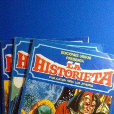 Cómics: LA HISTORIETA NÚMEROS 2, 3 Y 5 DE EDICIONES URSUS. Lote 116172147