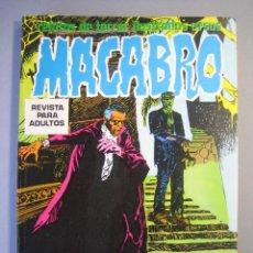 Cómics: MACABRO (1974, URSUS) -LIBRO- · 1974 · MACABRO ***EXCELENTE***. Lote 135450286