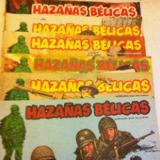 Cómics: HAZAÑAS BÉLICAS -LOTE DE 6 EJEMPLARES. Lote 148031294