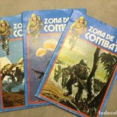 Cómics: LOTE 3 TEBEOS. ZONA DE COMBATE. DIF. NUMEROS. Lote 174107642