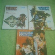 Fumetti: SERVICIO FEDERAL Nº 1 Nº 2 Y Nº 3 .BASTANTE BUEN ESTADO. Lote 175461097