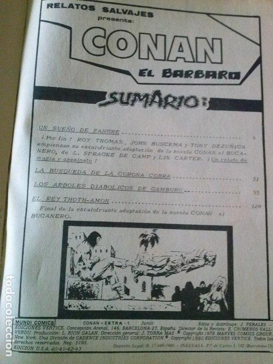 Cómics: conan el barbaro col. de 1 nº extra - vertice edicion especial - Foto 2 - 198308992