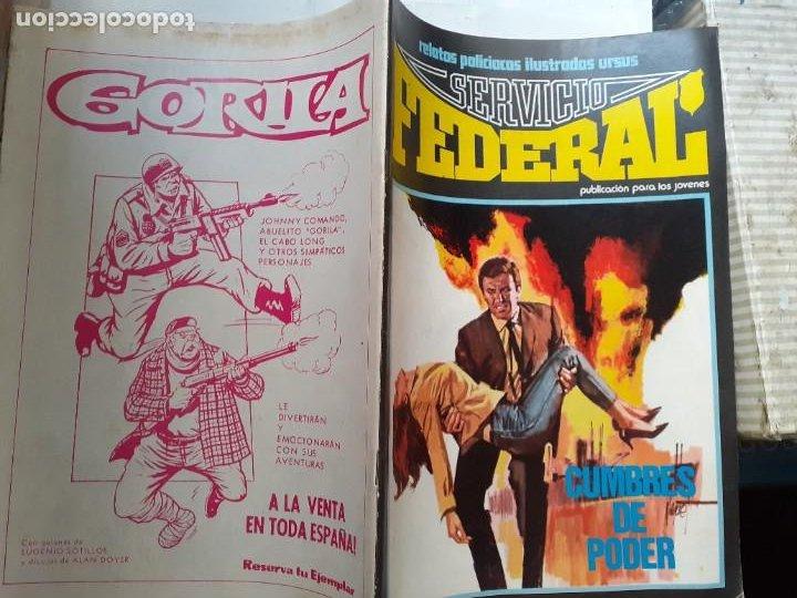 Cómics: SERVICIO FEDERAL-VOL-2- Nº 3 -CUMBRES DE PODER-1980-GRAN A.CARRILLO-MUY BUENO-DIFÍCIL-LEA-3722 - Foto 3 - 217946098