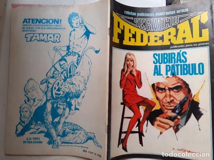 Cómics: SERVICIO FEDERAL-VOL-2- Nº 6 -SUBIRÁS AL PATÍBULO-ÚLTIMO DE LA COLECCIÓN-1980-HUÉSCAR-LEA-3723 - Foto 3 - 217946682