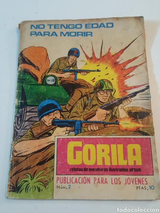 COMIC GORILA DE URSUS AÑO 1973 N° 2 NO TENGO EDAD PARA MORIR (Tebeos y Comics - Ursus)