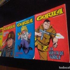 Cómics: LOTE GORILA NUMEROS 1-2-3-4. Lote 222077162