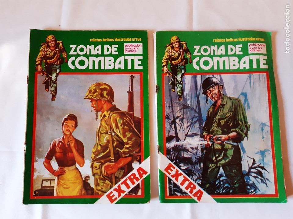 LOTE 2 COMICS ZONA DE COMBATE. EXTRA NUMERO 4. EXTRA NUMERO 8. 1979. (Tebeos y Comics - Ursus)