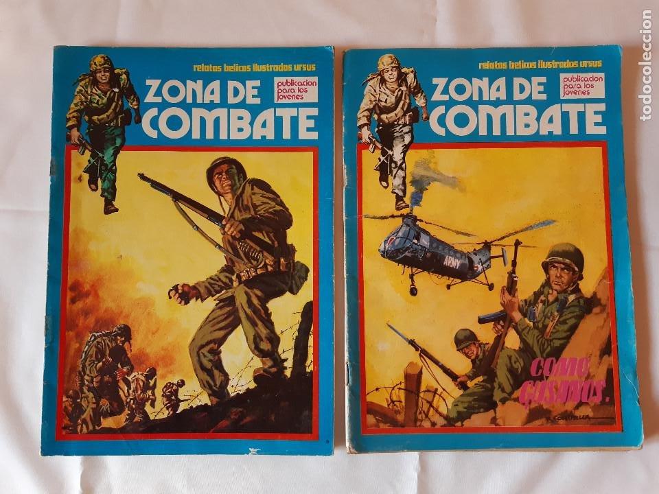 LOTE 2 COMICS ZONA DE COMBATE. NUMERO 13. NUMERO 8. 1979. 1073. (Tebeos y Comics - Ursus)